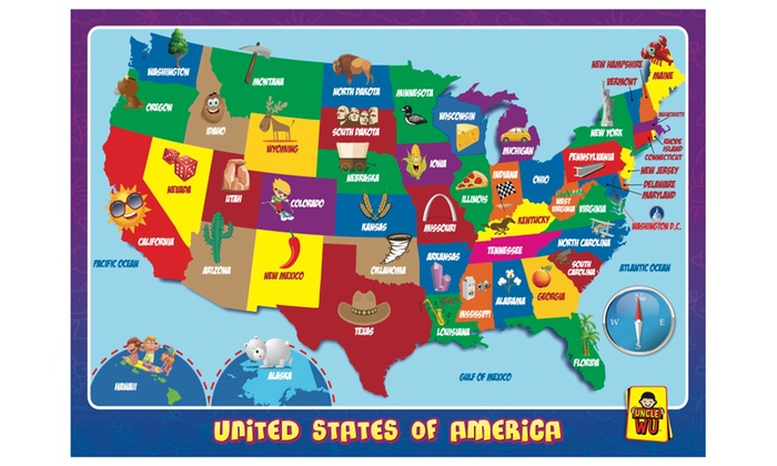 Up To 51% Off on United State Map-Educational ... | Groupon Goods