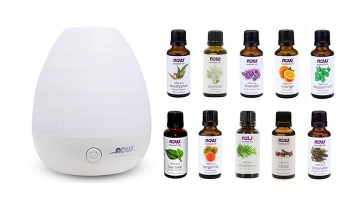 Ultrasonic Diffuser Bundle Aromatherapy + 10 Packs Aroma Oils