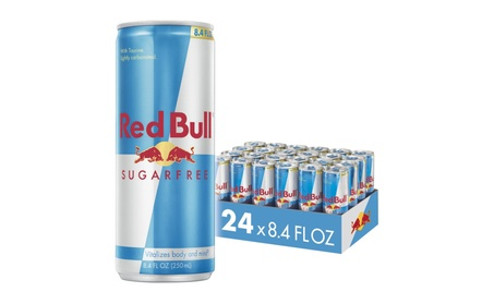 Red Bull Sugarfree, Energy Drink, 8.4 Fl Oz Cans, 24 Pack
