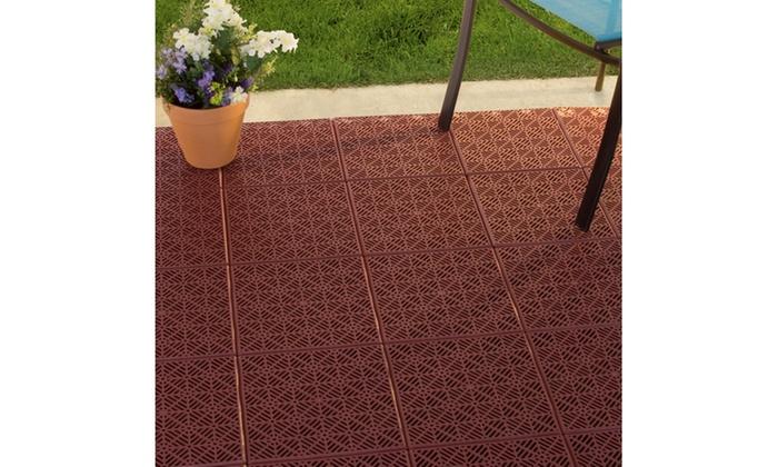 Pure Garden Interlocking Patio Deck Or Garage Floor Tiles 11 5 X