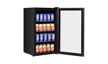 Costway 120 Can Beverage Refrigerator Drink Cooler Mini Fridge photo