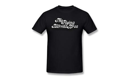 Yutas Aich The Flying Burrito Brothers Band Logo Black Tee a107adb3-49d5-4219-99c4-4ff9c44cf66f