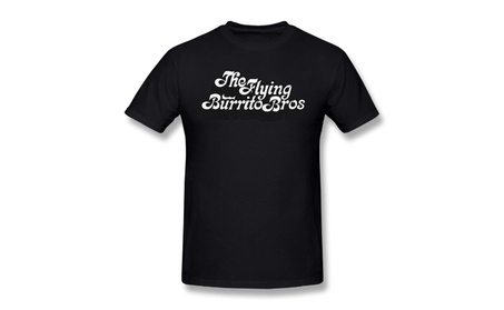 Yiouh Aich The Flying Burrito Brothers Band Logo Black Tee 58512181-999f-4ad8-8755-878a1b5552e6