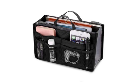 Women Travel Insert Handbag Organizer Purse Large Liner Organizer Bag (Goods Health & Beauty Cosmetics Bags & Cases) photo
