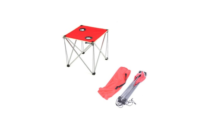 Perfect Folding Table Camping Oxford Cloth Red Picnic Desk Hiking Fish