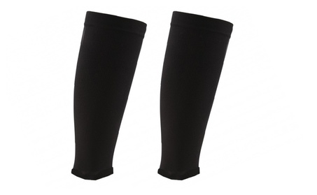Premium Black Shin Support Compression Sleeves For Running, Athletic d2cbfc5f-5d64-468e-a93d-e86f4c5d2345