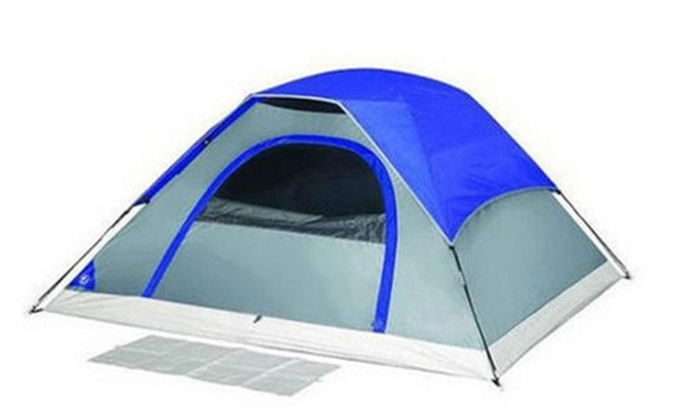 New 4 Season Tent Hunting C&ing 3 Person Blue 7u0027x7u0027 Dome Tent  sc 1 st  Groupon : 3 person dome tent - memphite.com