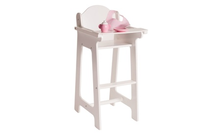"Eimmie 18"" Doll Furniture High Chair w/ Accessories 1bf3dd6d-b12a-4543-abec-2d44962b96cb"