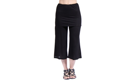 24/7 Comfort Apparel Women's Elastic Waist Stretch Capri Pants 3eef3579-5221-4179-b136-bf1c5611f20e