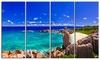 Tropical Beach Panorama - Seascape Photo Metal Wall Art