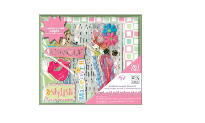 Me My Big Ideas Scrapbook Box Kit So Girly 8inch By 8inch Groupon
