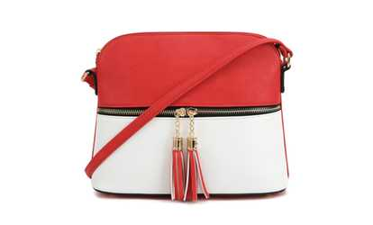 953dabc5ff2a Shop Groupon MKII Women s Bella Tassel Charm Crossbody Purse