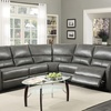 Amaris Bonded Leather 5-piece Power Reclining Sectional Sofa with USB Ports