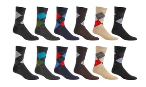 Gino Vitale Men's Dress Socks in Solids or Patterns (12 pack)