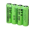BTY Rechargeable Ni-MH AA Battery 2300mAh 1.2V  4 in a pack