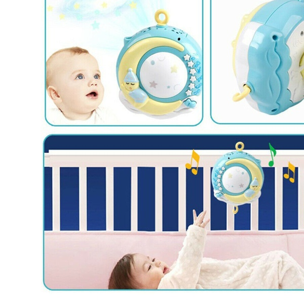 Bouder Universal Baby Musical Hanging Bell Cot Mobile Nursery Baby Cot Bed Mobile Cute Music Activity Crib Stroller Soft Toys for Newborn Infant Toddler 493542cm