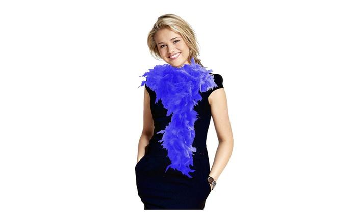 Royal Blue Long Feather Boa