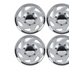 """4 Pack 16"""" Inch Ford F150 F250 F350 Silver & Chrome Wheel Covers"""