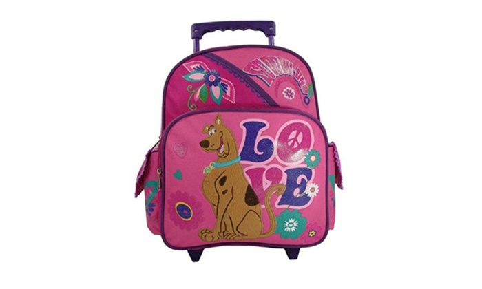 """NileStores: Scooby Doo """"Peace & Love"""" Toddler 12"""" Rolling Backpack"""