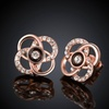 18K Gold Plated Swarovski Elements Swirl Floral Stud Earrings- Two Options