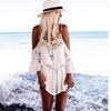 Off The Shoulder White Lace Summer Romper