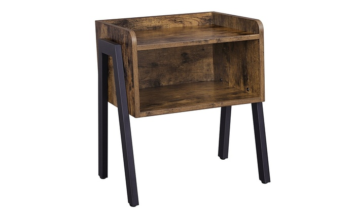 Vasagle Nightstand Stackable End Table Cabinet For Storage