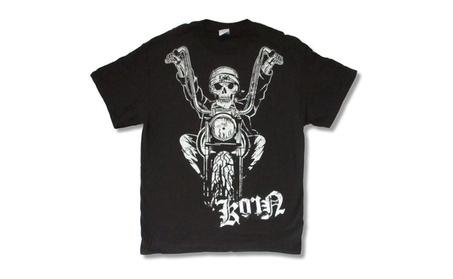 Korn Easy Rider 2006 Motorcycle Skelton Black T Shirt Adult e2d735d5-d611-4251-8203-707ca20bac5d