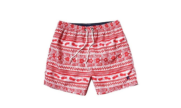 Men's Sports Runnning Swim Board Shorts with Pocket