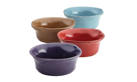Rachael Ray(r) Cucina Stoneware Dipping Cup Set, 4-Piece, Assorted 893ba7eb-ffaf-4afb-8f71-ae6302afe38b