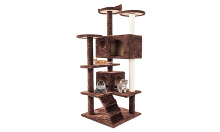 "52"" Solid Cute Sisal Finiture Cat Tree Tower Brown Was: $139.00 Now: $46.99"