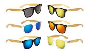 Vintage Maple Wood Arms Sunglasses Summer Glasses for Women Men