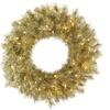 "36"" Gold/Silver Tinsel Wreath 100Clear"