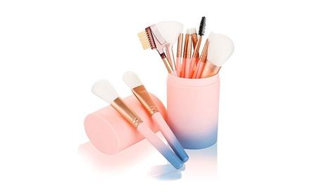 Makeup brush set, 12 pc Face Makeup Brushes Makeup Brush Set