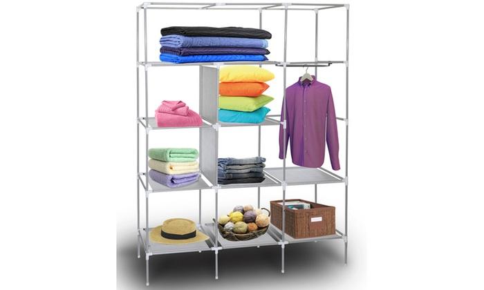 Captivating ... Portable Wardrobe Closet Storage Organizer