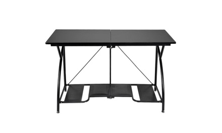 Modern Folding Computer Desk Home Office Study PC Writing Table Furniture Black