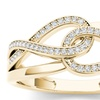 De Couer 10k Yellow Gold 1/5ct TDW Fashion Ring (H-I, I2)