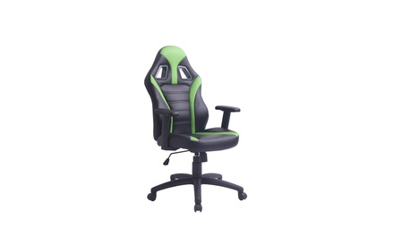 Adjustable Swivel Gaming/Office Chair, Black and Green