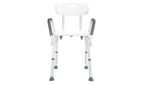 Bath Shower Chair with Arms, Bathtub Chair and Shower Bench with Non-Slip Feet