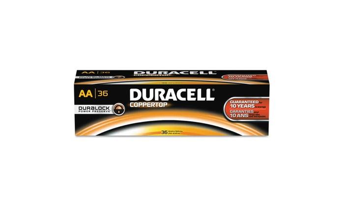 Duracell CopperTop Alkaline Batteries, AA, 36Pk