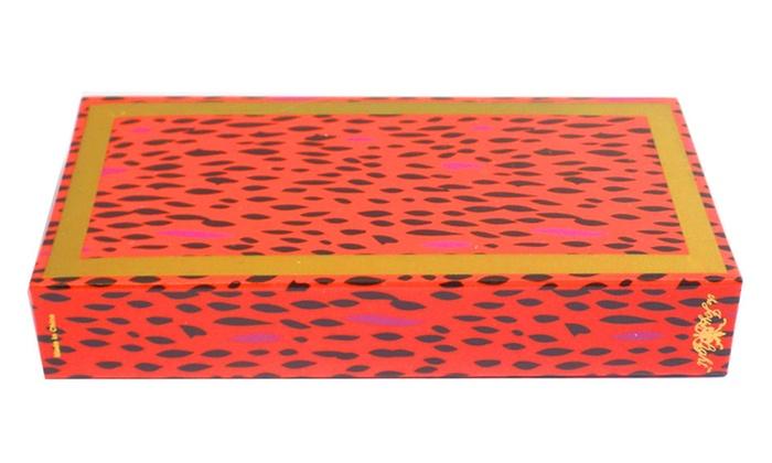 The Joy Of Light Designer Matches Orange Pink Cheetah Embossed Matte 4