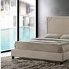 Closeout:  Heidi Modern and Contemporary Beige Fabric King Size Platform Bed