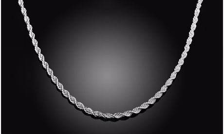 Solid Italian Rope Chain in Sterling Silver