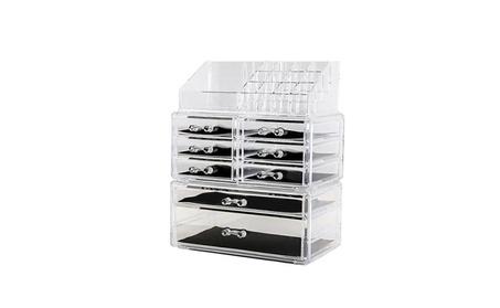 Acrylic Cosmetic Organizer Makeup Holder Case Box Jewelry Storage Draw
