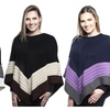 Womens Line Pattern Design Knitted Shrug Sweater Top