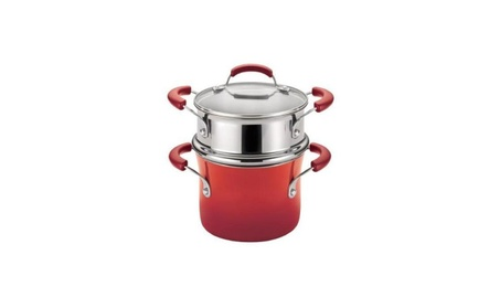 Rachael Ray 14484 Hard Enamel Nonstick 3-Quart Covered Steamer Set e337ffba-3982-4186-a0a2-f7efe68f3bee