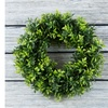 Pure Garden UV Resistant Artificial Opal Basil Leaf Wreath - 11.5'' Round