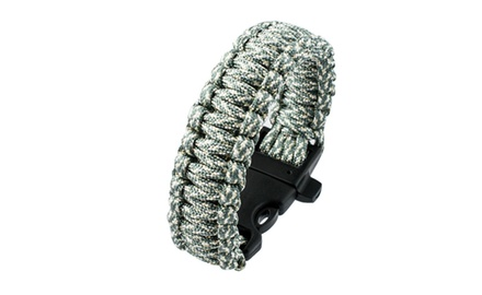 2 Pack Paracord Emergency Bracelet with Whistle - Assorted Colors