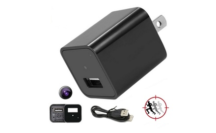 1080P Spy HD Camera Camcorder USB Wall Charger Adapter 32GB