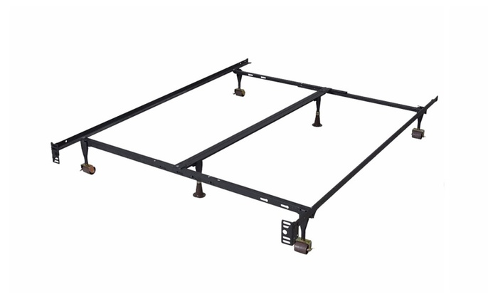 38 off on adjustable metal bed frame groupon goods for Bed frame deals