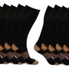 Copper-Infused Compression Socks - 5 Pack